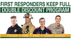 First responders double discount program